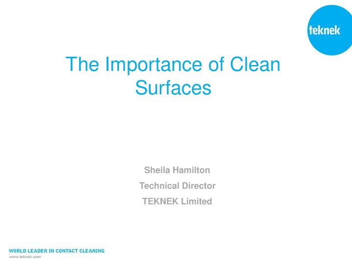 The Importance of Clean Surfaces pres