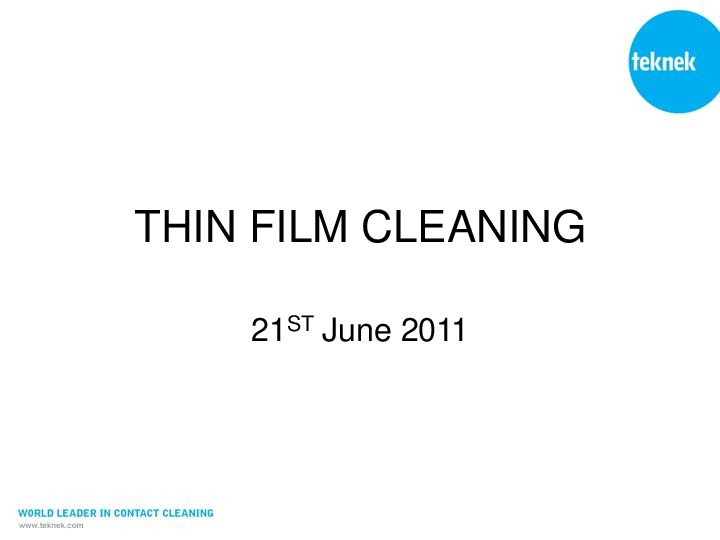 Thin Film Processing 2